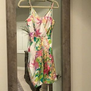 Spring/Easter Spaghetti strap floral dress. Xs.